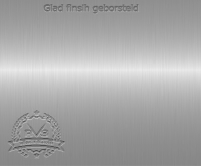 Glad finish geborsteld